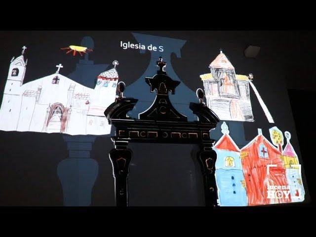 """VÍDEO: El Palacio de los Condes de Santa Ana estrena una proyección de """"vídeo mapping"""" sobre el patrimonio local visto por los niños"""