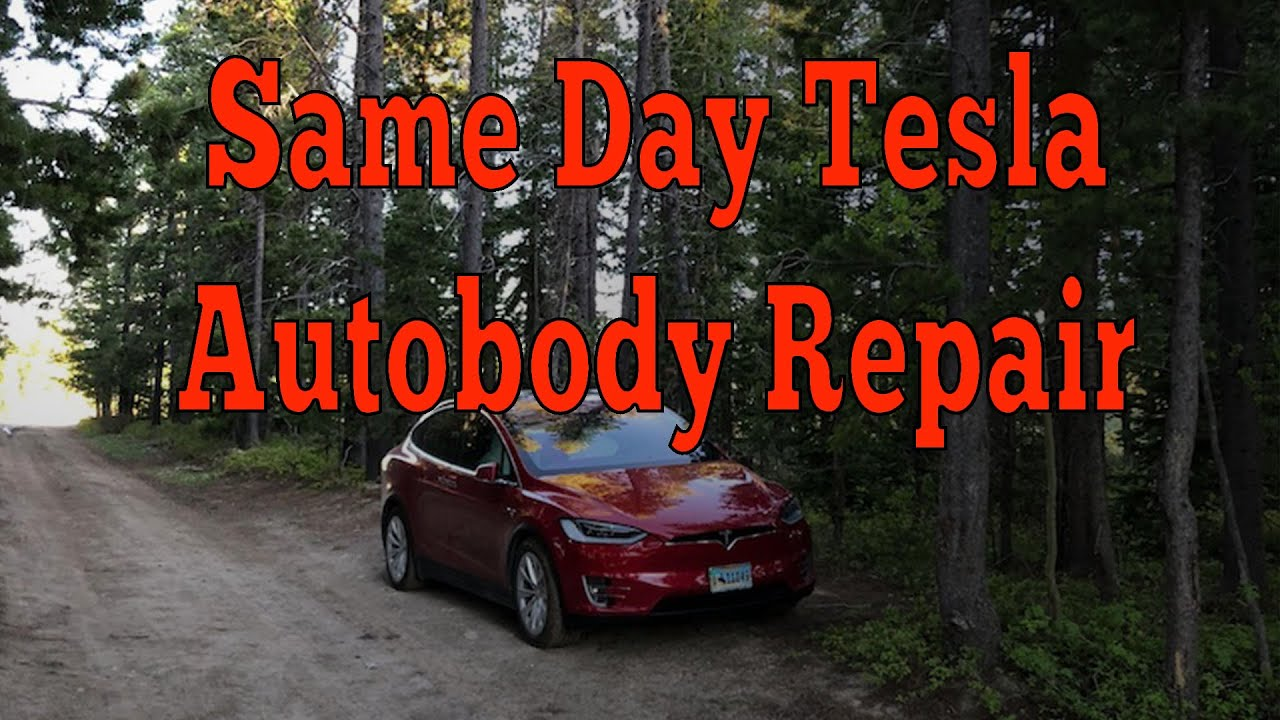 Same Day Tesla Collision Repair