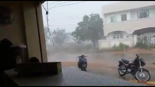 heaviest rain ever in hyderabad!! wait till the end
