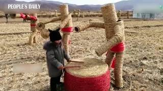 Special 'exhibit' showcasing hay arts made by young farmer in NE China's Jilin.