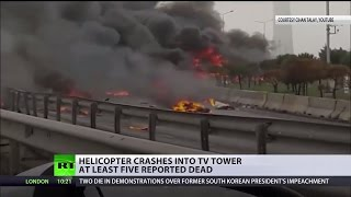 5 killed in helicopter crash in Istanbul, Turkey