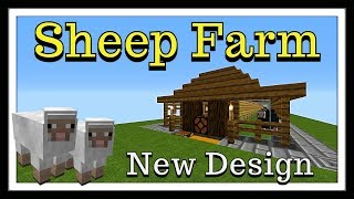 Minecraft tutorial : New Sheep/Wool Farm (Works on all Versions)