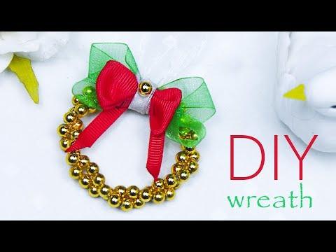DIY Easy mini Christmas wreath 2019   Wreath Christmas decorations    Beads art Mp3