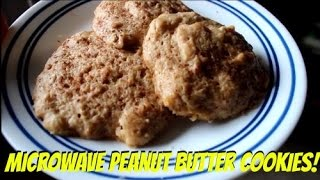 Easy Healthy Microwave Protein Peanut Butter Cookies!
