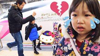関西旅行最後の日…駅でキティちゃんの新幹線があると知り急遽乗ることが決まったのですが…その時間出発の僅か10分前!!慌てて切符を買い一...