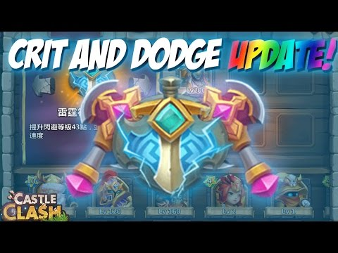Castle Clash ADD Crit & Dodge On Heroes (Artifacts)