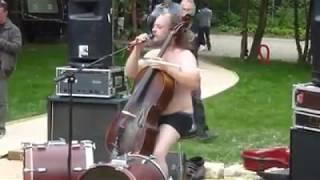 Double Bass, Cello, and a Near Banana Hammock!