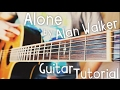 Alone Alan Walker Guitar Tutorial Alan Walker Guitar Lesson
