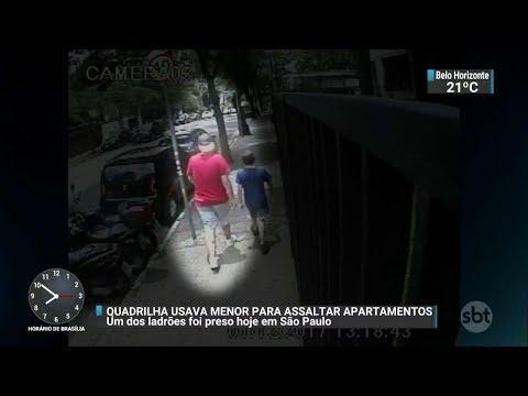 Membro de quadrilha que usa menores para roubar condomínios é preso | SBT Brasil (07/12/17)