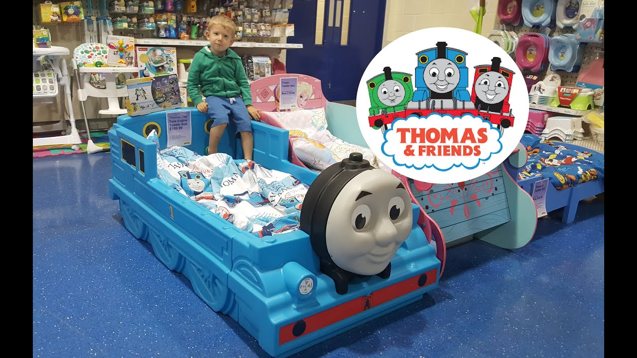GIANT Thomas And Friends Kids Toy Train Bed HUGE Thomas The Tank Engine Fun