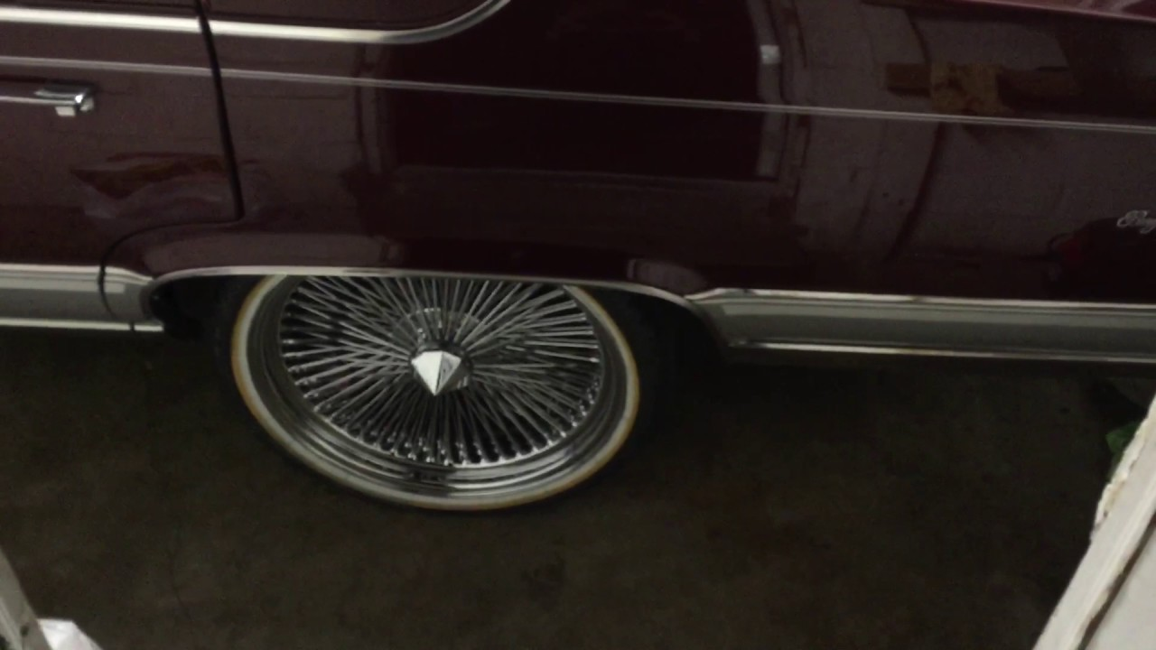 22 Inch Wire Rims 1992 Cadillac Brougham D\'Elegance - YouTube