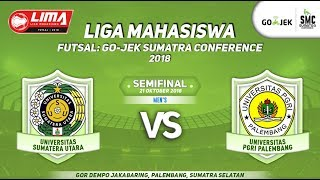 MEN'S USU VS UPGRI LIMA Futsal : GO-JEK SUMATRA CONFERENCE 2018