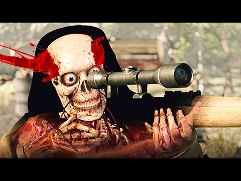 SHOOTING THE SNIPER BEFORE HE SHOT ME!? (Sniper Elite 4) |