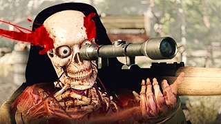 SHOOTING THE SNIPER BEFORE HE SHOT ME!? (Sniper Elite 4)