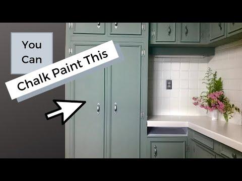 Chalk Paint Kitchen Makeover With Annie Sloan Chalk Paint & Rustoleum Countertop Paint!