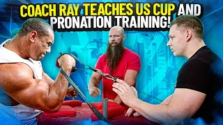 COACH RAY TEACHES US CUP AND PRONATION TRAINING!
