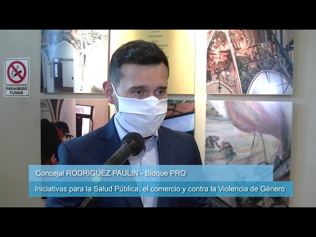 Rodríguez Paulin iniciativas en salud, comercios y contra la violencia de género