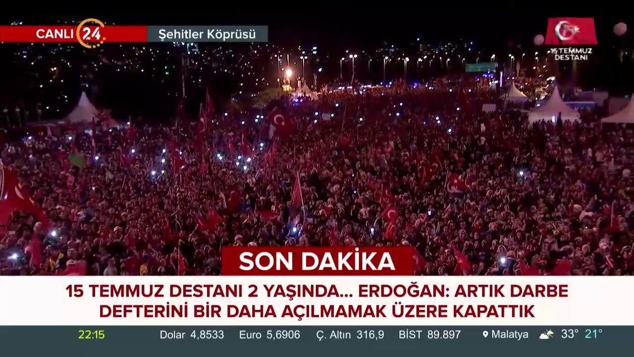 Başkan Erdoğan: 15 Temmuz bizlere kimin ülkemizin kara gün dostu olduğunu gösterdi