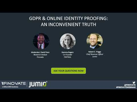 GDPR & Online Identity Proofing: An Inconvenient Truth