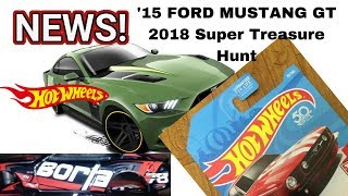 New 2018 Super Treasure Hunt '15 FORD Mustang GT And More HOT WHEELS Prototypes