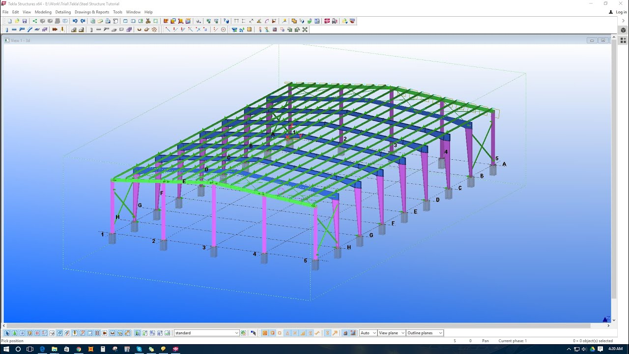 6 Modeling Purlins With Purlin Connection In Tekla