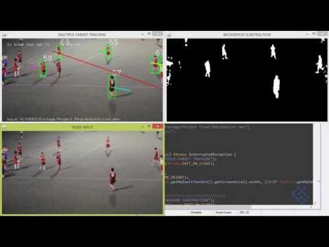 Multi-target tracking Java OpenCV - YouTube