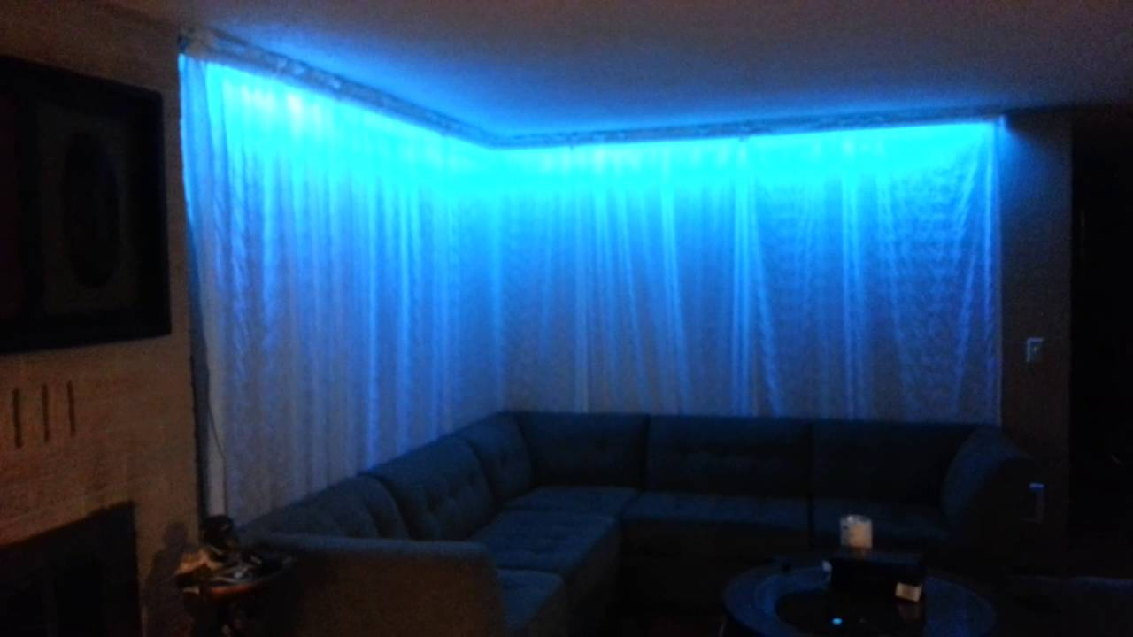 DIY 5050 led L.E.D. strip ambient Lighting project