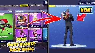 "*NEW* How To get the FREE ""Rust Bucket"" BACK BLING in Fortnite Battle Royale! RUST BUCKET (TUTORIAL)"