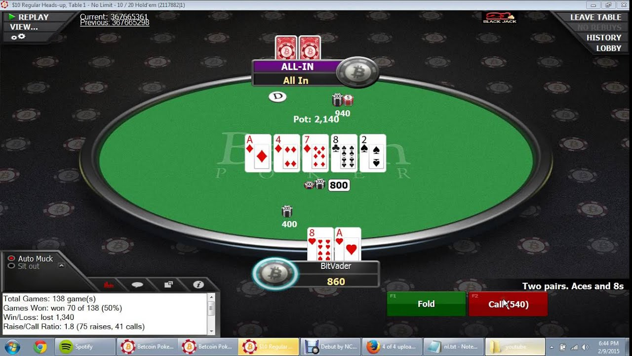 No Limit Texas Holdem