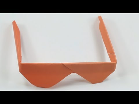 How to make a paper Origami glasses | Best Origami Sunglasses for kid | Easy Paper Crafts Tutorial.