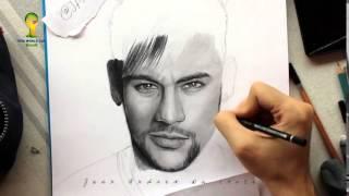 Drawing Neymar Jr By Juan Andres