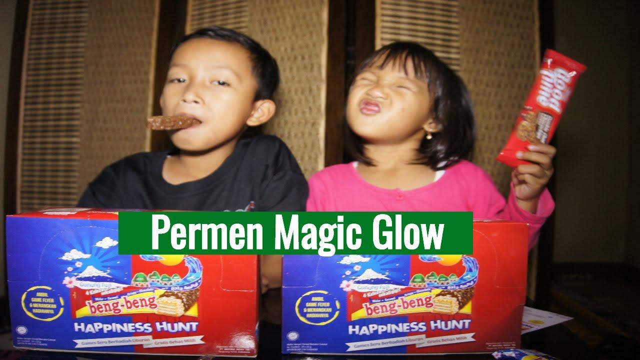 Makan Permen ada Lampunya Magic Glow Yupi Beng Beng Unboxing Makanan Anak Tori Airin