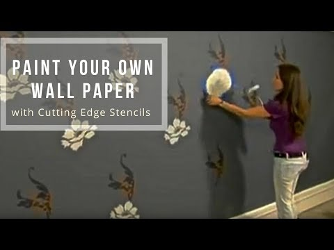 Stencils Paint Your Own Wallpaper With Stencils By