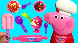 Peppa Pig Cooking Play Set Play Doh Food Ice Cream Playdough Chef Peppa Pig Cooking Set Carry Case