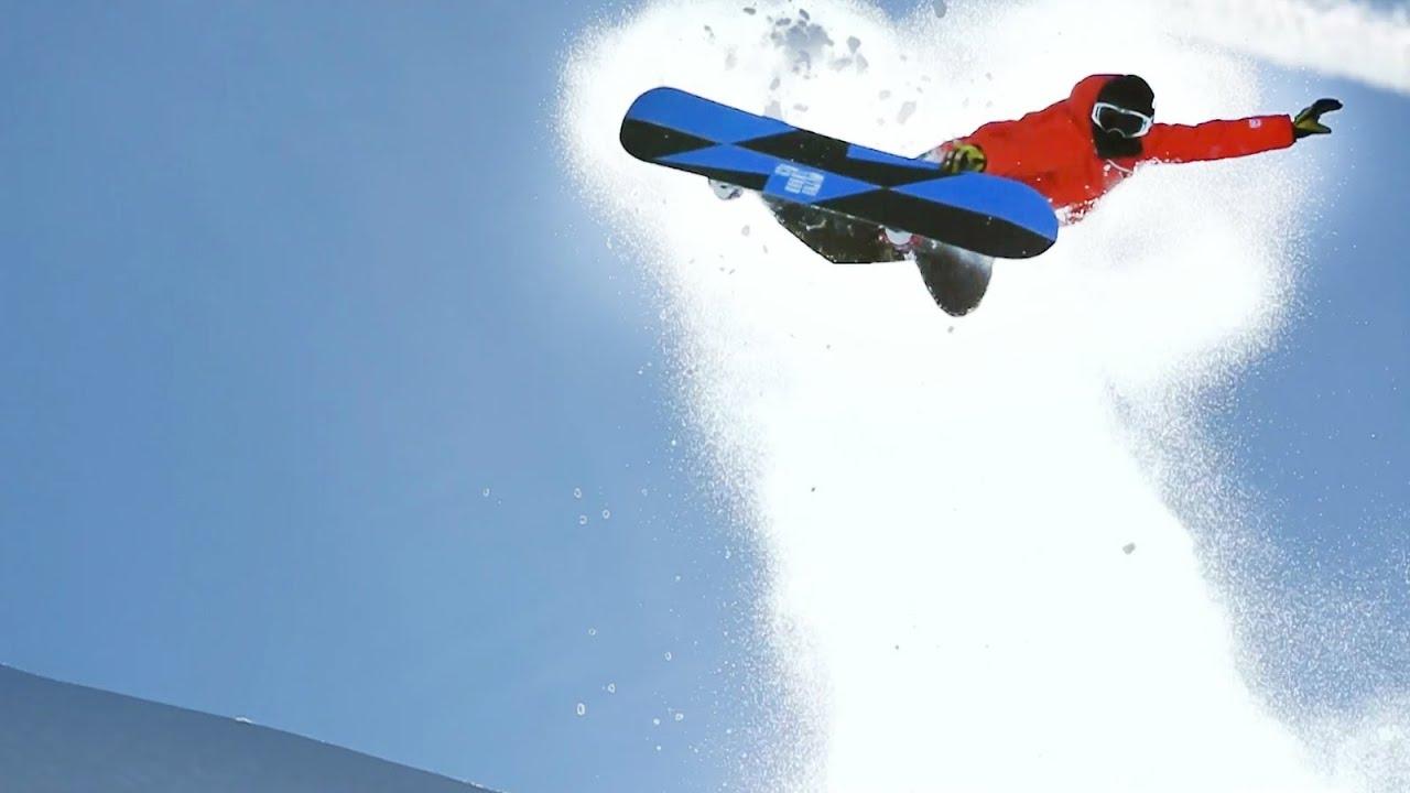 Freeride snowboarding in Bavarian backcountry - YouTube