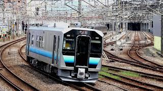 GV-E400系 八高線試運転 高崎駅発車