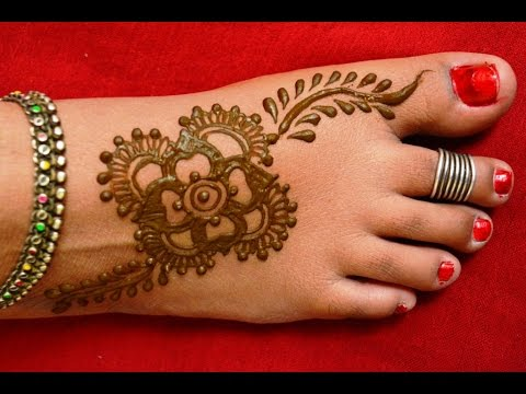 Mehndi Designs For Feet : Simple easy feet mehndi designs for handsmatroj