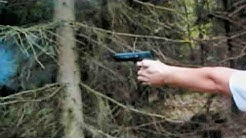 Blank pistol Colt 1911 A1 - Original Snake Shooting cans