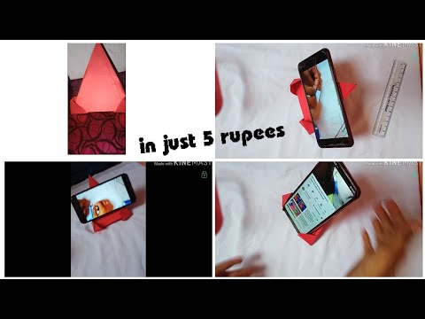 DIY phone stand in just 2 minutes under 5 Rupees/ origami mobile stand