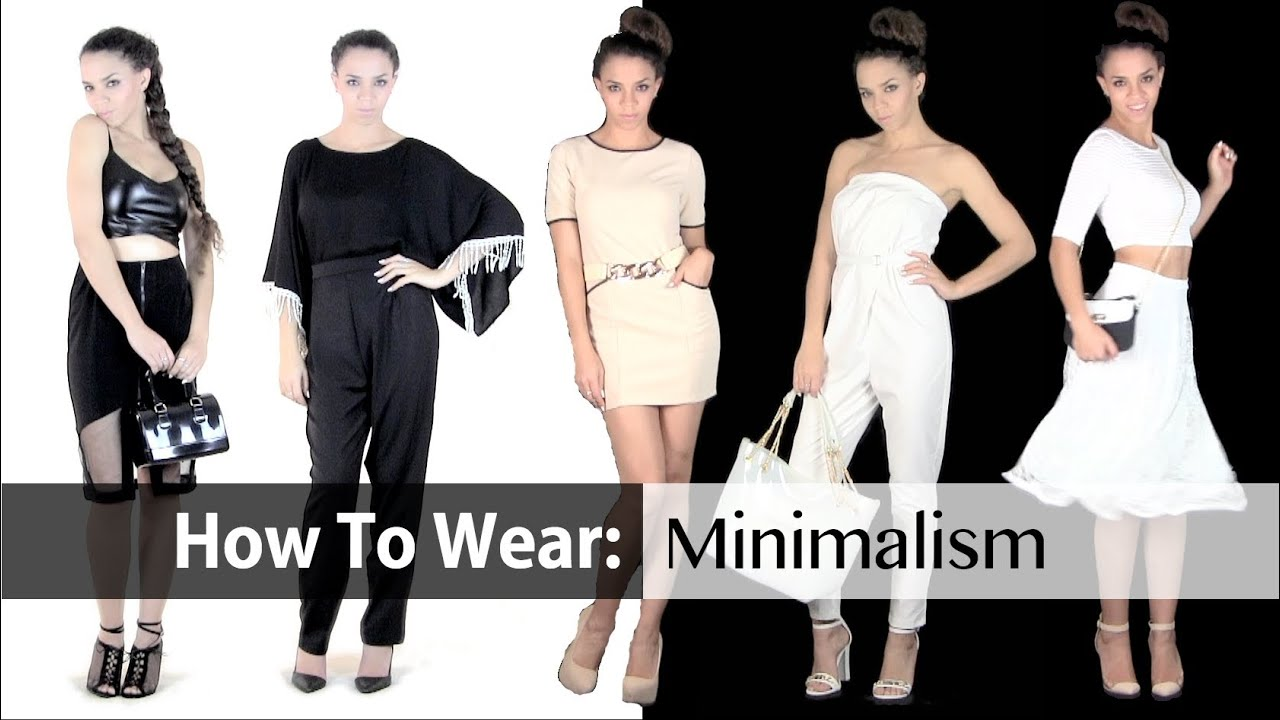 Spring Fashion Trends Minimalism 8 Outfit Ideas Youtube