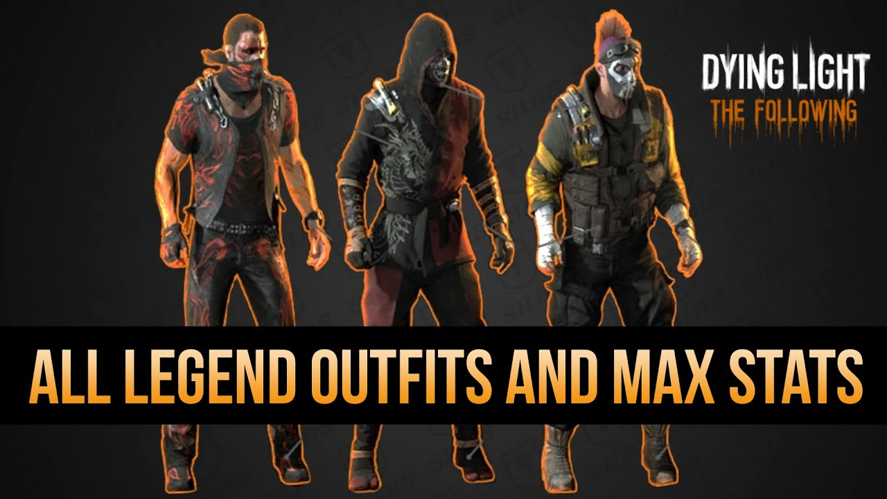 MAX LEGEND LEVEL STATS AND OUTFITS REVEALED (Dying Light ALL LEGEND REWARDS)