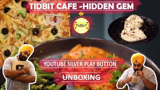 SASTA TASTY food at TidBit Cafe | Silver Play Button Unboxing