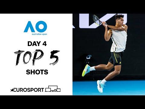 Top 5 shots - Day 4  | Australian Open 2021 - Highlights | Tennis | Eurosport
