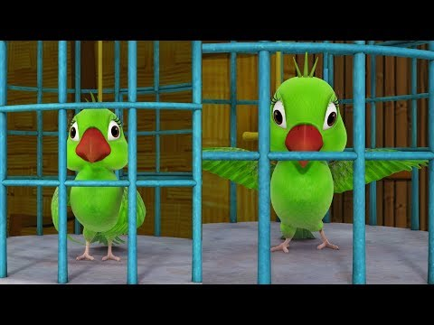 The Two Parrots Telugu Kathalu | Telugu Stories for Kids | Infobells
