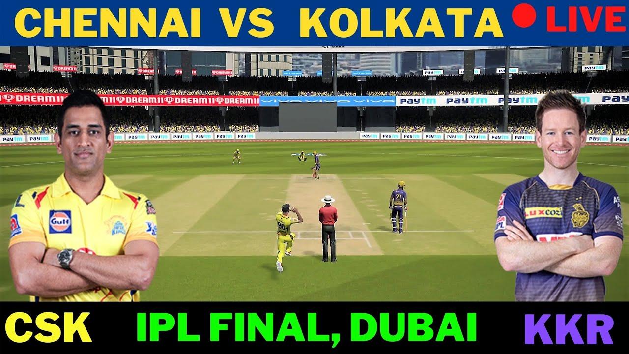 🔴 Live: CHENNAI VS  KOLKATA | Cricket Scores and Commentary | CSK Vs KKR, IPL  2021 FINAL
