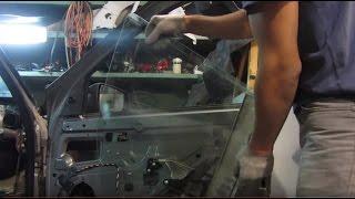 Как снять стекло двери на Калине и Гранте(Видео обзор по замене бокового стекла передней двери на автомобилях Лада Калина и Гранта своими руками., 2015-08-26T16:41:30.000Z)