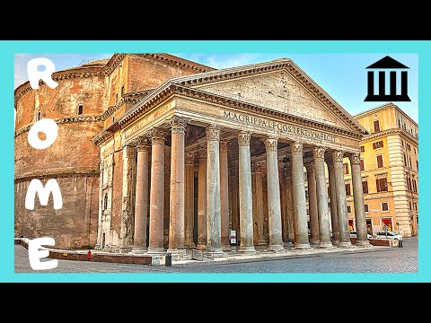 "Ancient Rome, the spectacular Pantheon (now a church to ""St. Mary and the Martyrs"")"