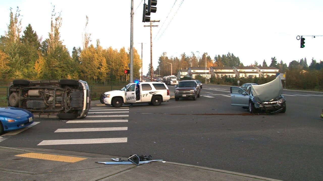T Bone Rollover Accident 112th Street East & Woodland Ave Puyallup WA