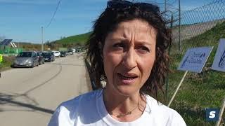La marcia contro le discariche a Valle Cena