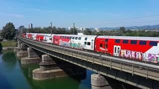 Bahnvideo 1116 mit Dostos in Wien Neue Donau
